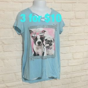Justice blue puppy graphic T-shirt 10